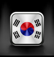 South Korea flag drawing lag sign symbol vector image