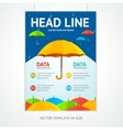 Placard Poster Template with Umbrellas vector image