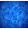 Blue Geometric Retro Mosaic Pattern vector image