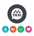 Taxi speech bubble sign icon Public transport vector image