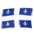 Grunge Quebec flag vector image vector image