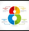 creative alphabet 8 info-graphics design concept vector image
