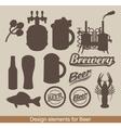 design of beer vector image