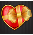 valentines day heart with transparent gold bow eps vector image
