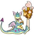dragon with ice cream vector image