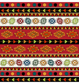 Abstract Ethnic pattern in vivid colors vector image