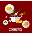 Cooking flat design vector image