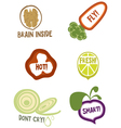 Useful qualities of organic foods vector image