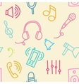Sound seamless pattern vector image
