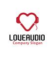 Love Audio Design vector image