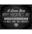 Valentine Banner on Chalkboard vector image