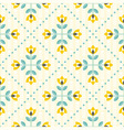 Seamless floral pattern yellow and teal vector image vector image