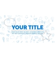 Creative blue text your title on white background vector image