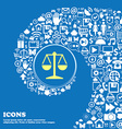 Libra icon Nice set of beautiful icons twisted vector image
