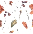 Botanical autumn seamless pattern vector image vector image