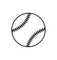baseball line art icon on white background vector image