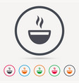 coffee cup icon hot tea drink sign vector image