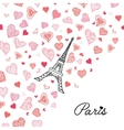 Eifel Tower Paris Surrounded By St vector image