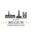 Independence Day Belgium vector image