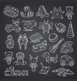 kid toys set hand drawn vector image