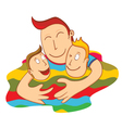 lovely father vector image