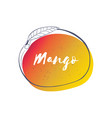 mango icon with lettering vector image