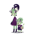 Monster Family Zombie mother and her son vector image