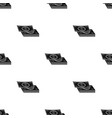 pile of cash icon in black style isolated on white vector image