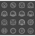 Sport labels or badges vector image