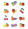 Funny fruits smiling together for your design vector image vector image