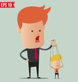 Business man control the doll - - EPS10 vector image vector image