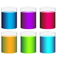 Colourful beakers vector image vector image