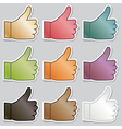 thumbs up stickers vector image vector image