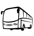 Bus symbol vector image vector image