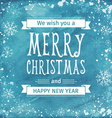 Greeting watercolor Card Merry Christmas lettering vector image