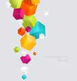 Abstract color cubes background vector image