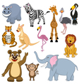 mult animals set vector image