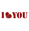 love sentence Valentines day vector image