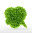 foliage bubble vector image vector image