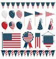 American decorations vector image