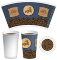 pattern cup of coffee vector image vector image