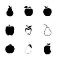 apple and pear icons set vector image