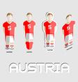 Austria Soccer Team Sportswear Template vector image