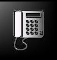 Communication or phone sign gray 3d vector image