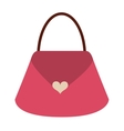 cute bag female isolated icon vector image