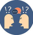 Discussion chat concept Flat design Icon in blue vector image