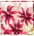 Flowers Low Poly Pattern vector image