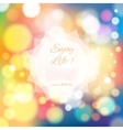 Magical festive background with bright lights vector image