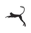 Monkey silhouette vector image