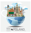 Republic Of Poland Landmark Travel And Journey vector image